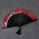 Women-style portable fan Chinese wind ancient wind folding fan Japanese-style and feng han clothing ancient clothes with the dance small folding fan