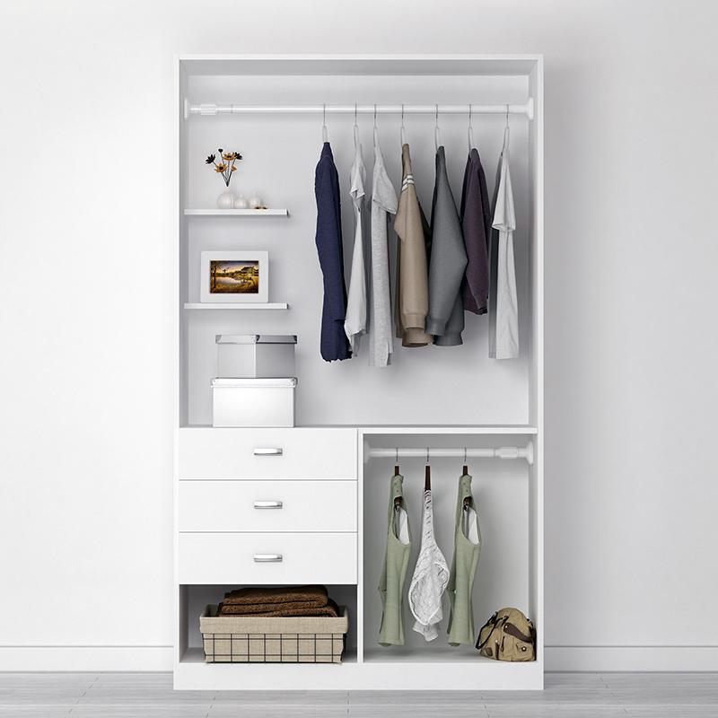 衣橱衣柜挂衣杆宿舍伸缩杆免打孔可调节晾衣杆横杆架子衣杆挂衣服