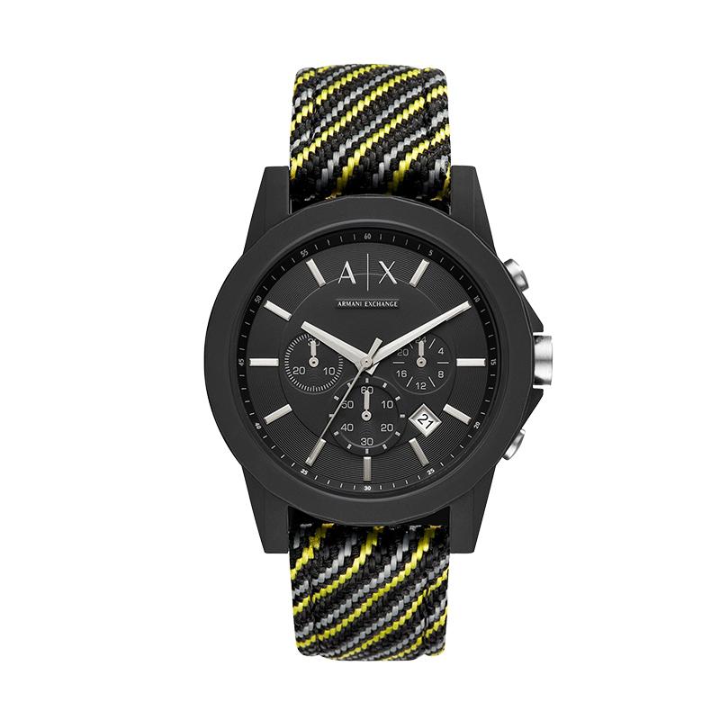 【直营】Armani Exchange石英男士手表休闲运动防水腕表AX1334
