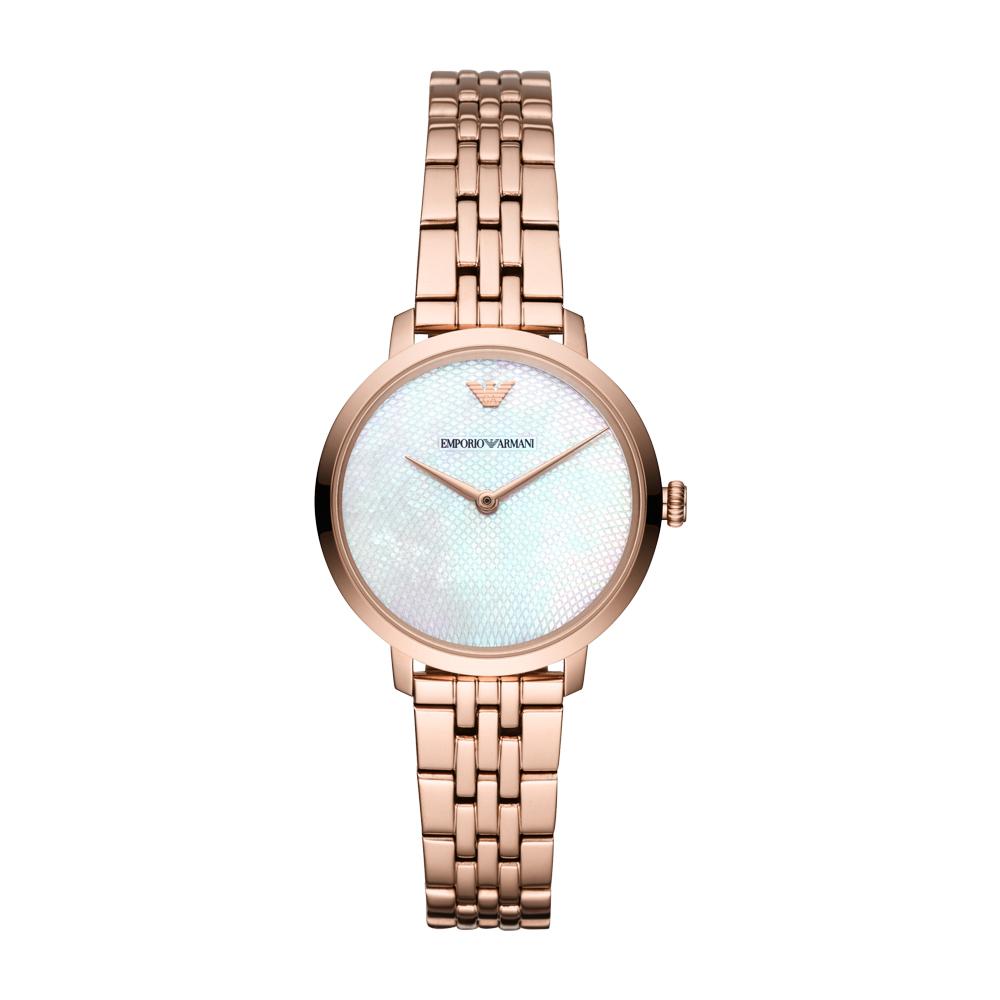 【直营】Armani阿玛尼手表钢带经典时尚休闲石英女士腕表AR11158