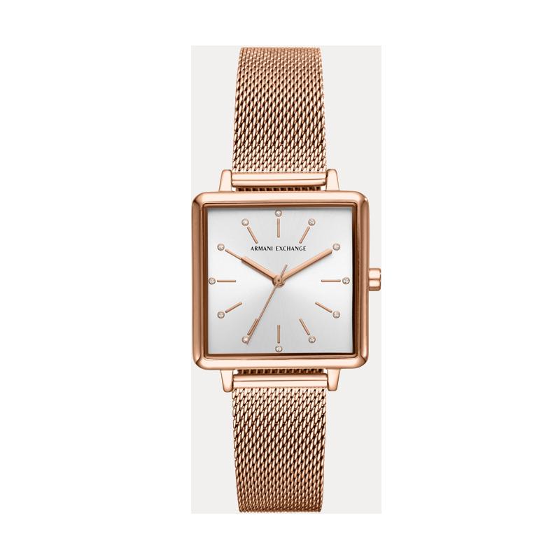 【直营】Armani Exchange腕表石英女表钢表带欧美腕表AX5802