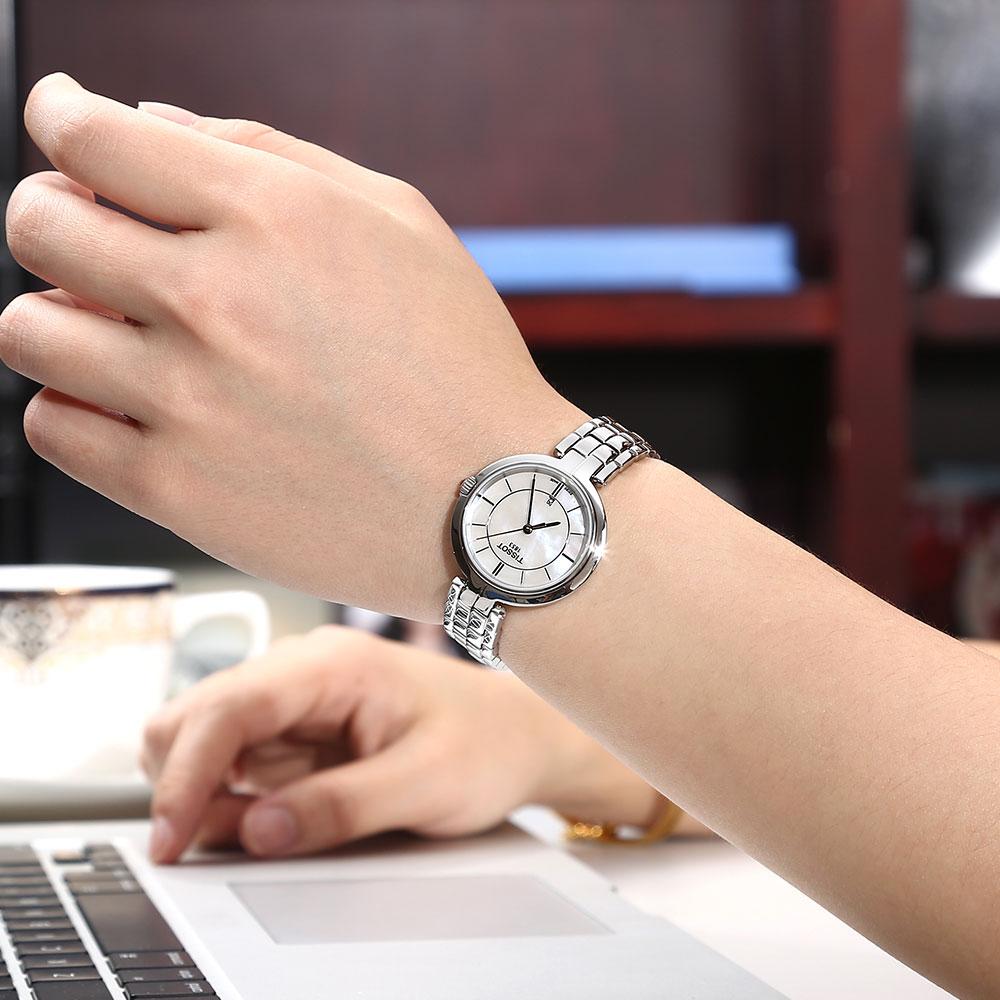 天梭弗拉明戈系列女士钢带石英腕表 T094.2 Tissot
