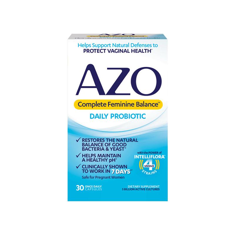 azo女性私处调理益生菌胶囊调理霉菌护理乳酸菌30粒小蓝盒