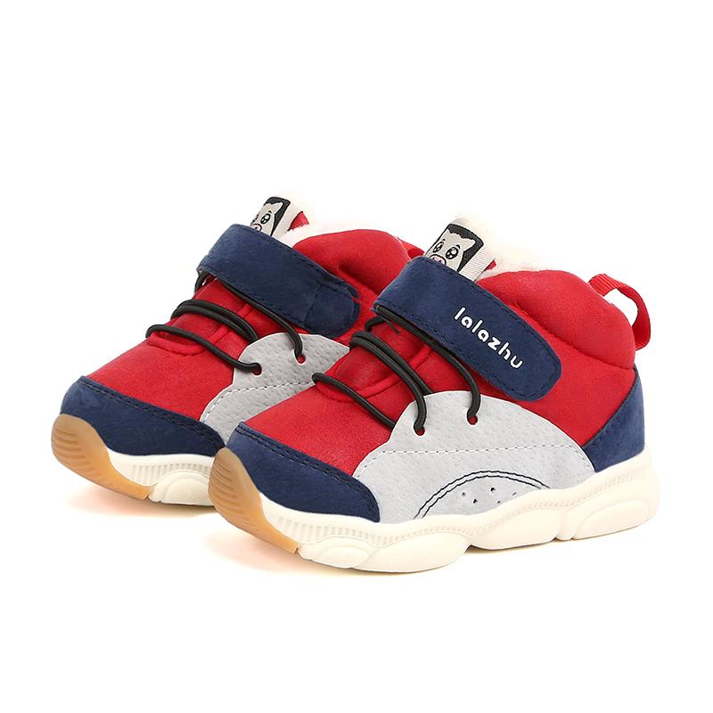 2 岁 3 1 拉拉猪秋冬季儿童加绒运动鞋男宝宝加厚棉鞋女小童保暖鞋子