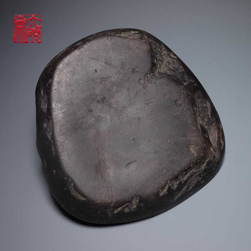 六砚斋老物件明代宋坑火捺端州石砚