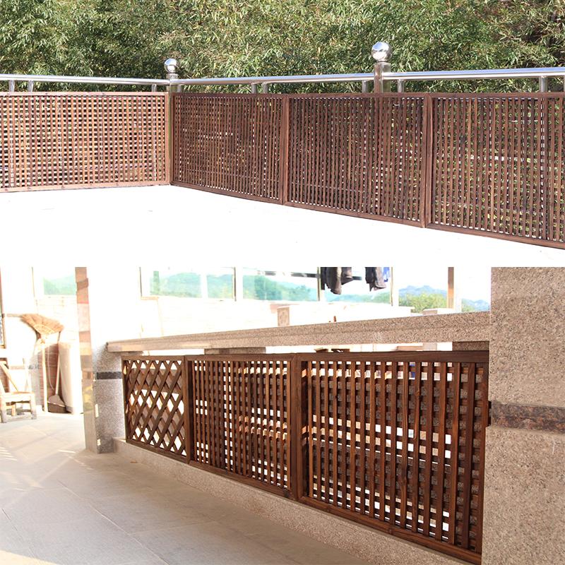 防腐木栅栏可移动饭店餐厅隔断围栏户外篱笆围墙室内阳台