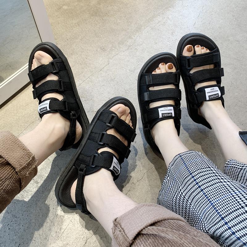 男士凉鞋夏季拖鞋男时尚沙滩两用情侣一字外穿2020新款越南凉拖潮【图4】