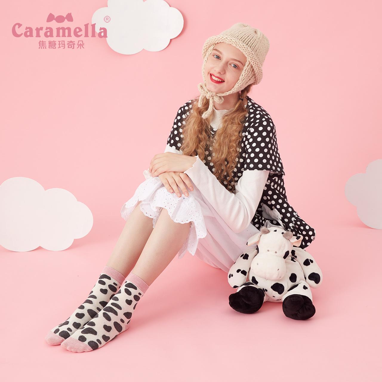 caramella秋冬季堆堆袜日系韩版中筒长袜子女潮棉袜街头原宿ins