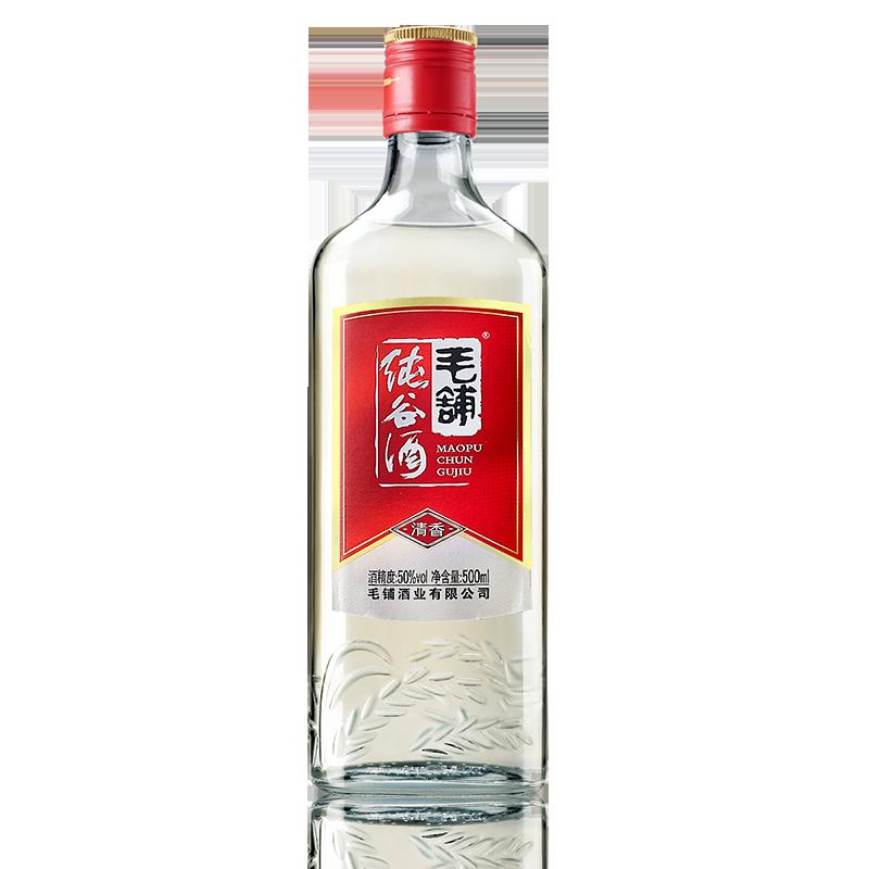 天猫U先: 毛铺 纯谷酒 50度 500ml    9.9元包邮