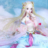 Germany win DF Dream Fairy Doll 62CM Caroline Peach Yao Yao Illinois movable joints that women dress up doll
