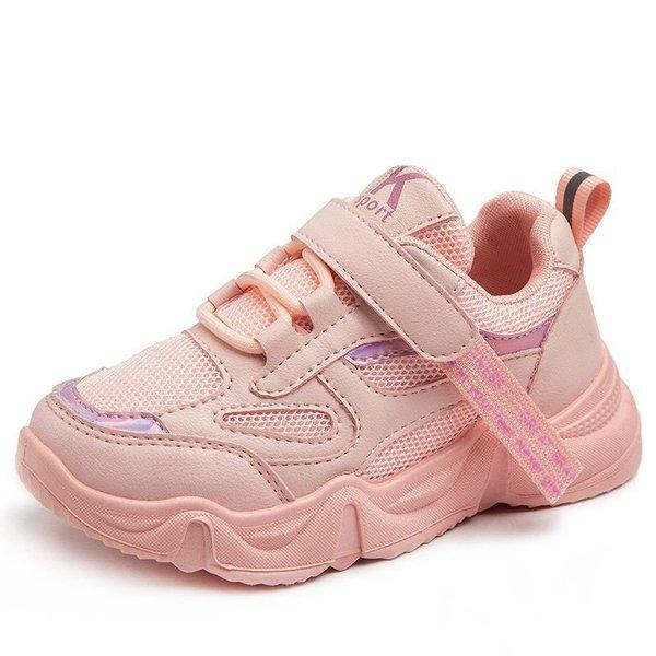 2020秋冬季新款男童运动鞋女童休闲鞋网面透气轻便学生跑步童鞋