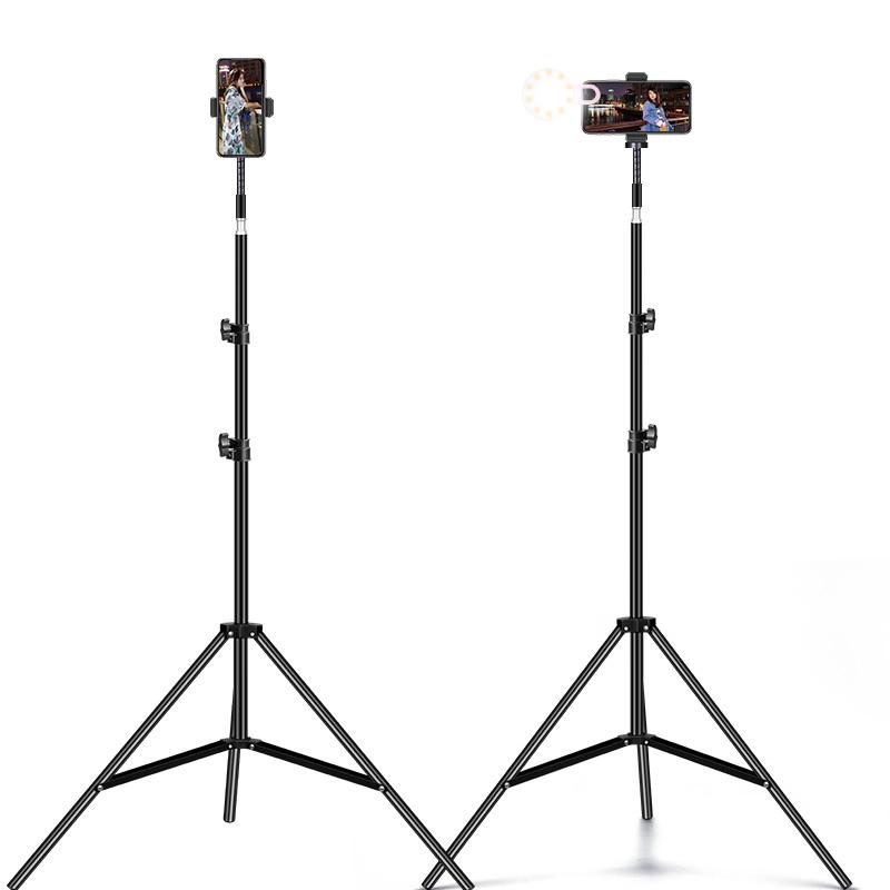 手机直播支架多功能三脚架夹拍照支架户外自拍拍照拍摄神器补光灯抖音视频录像落地式主播设备全套懒人支撑架