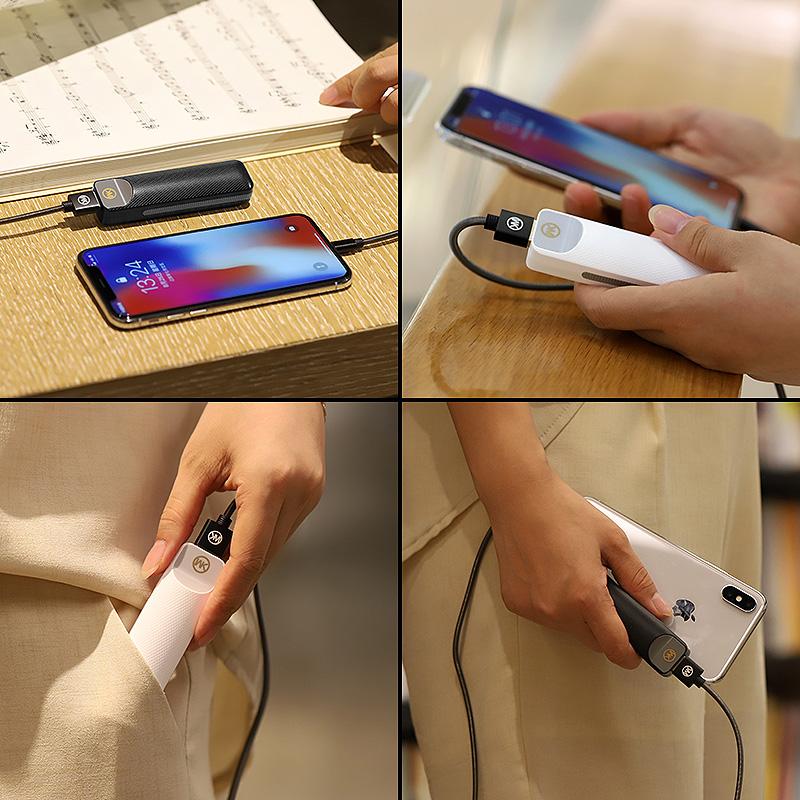 帝楷迷你充电宝超薄小巧便携苹果应急专用女生可爱创意小米oppo华为vivo手机移动电源带线网红款