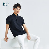Ten as official 2020 summer new men's short-sleeved Polo Black Slim breathable sweat trace polo shirt lapel