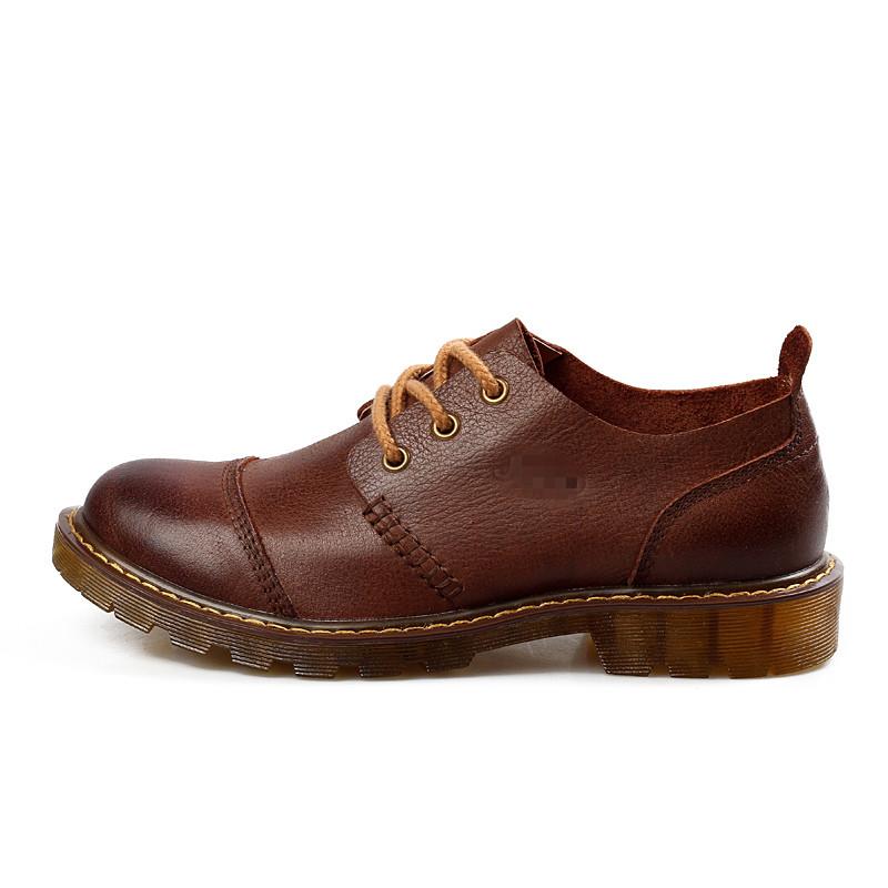 头层牛皮男士休闲鞋男大头鞋男英伦真皮商务皮鞋真皮男鞋