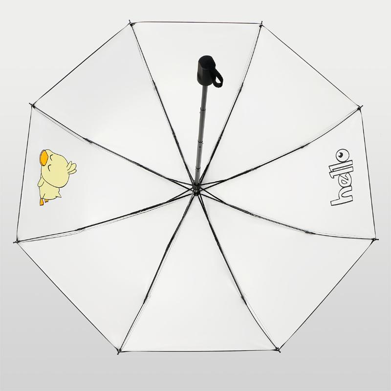 遮阳创意卡通防晒防紫外线折叠晴雨两用黑胶太阳伞 INS 雨伞少女心