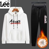 ibelee sweater suit male autumn 2019 with a handsome new fall and winter plus velvet tide men's sports and leisure