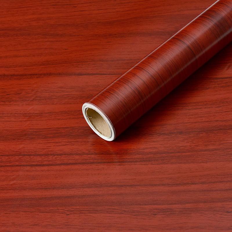 墙纸仿真木纹加厚衣柜子书桌橱柜门家具鞋柜翻新贴纸防水自贴壁纸