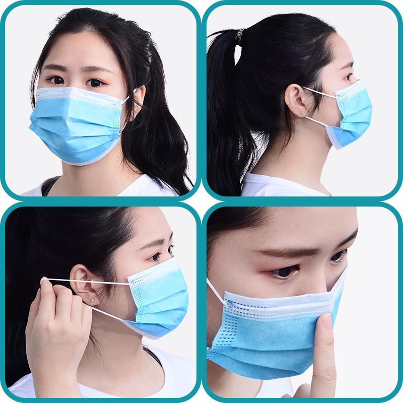 现货一次性囗罩包邮防尘透气三层囗罩男 女口鼻罩防护用品 10只装