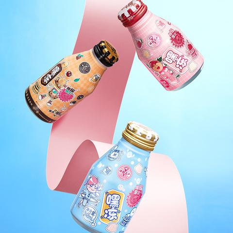 汉口二厂嘿冻果冻汽水网红饮料盐渍荔枝口味真果汁整箱248ml*6瓶