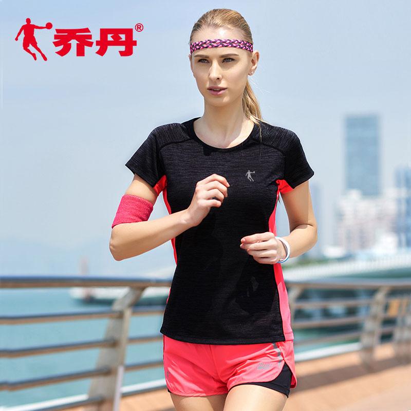 乔丹短袖运动T恤女2020春夏新款跑步瑜伽健身服女装休闲速干半袖
