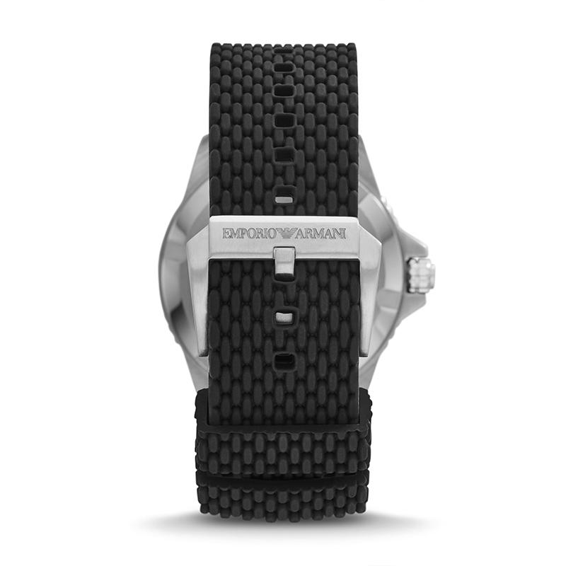 阿玛尼手表男 2021春季新款深度潜水黑水鬼编织钢带男表AR11341
