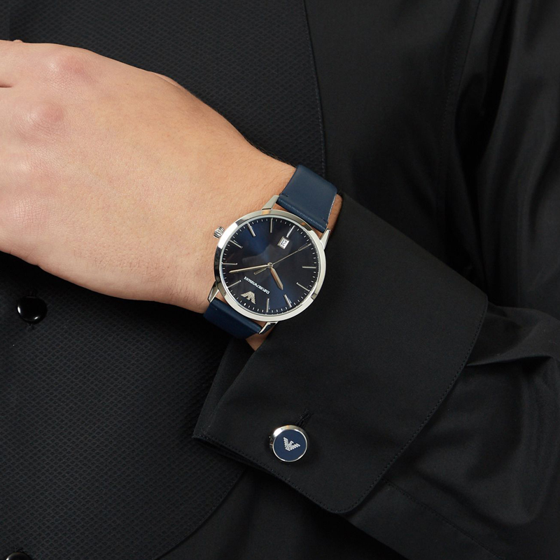 EMPORIO ARMANI阿玛尼手表男 时尚商务飞行员石英表礼盒装AR80032