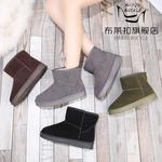 布莱扣2019新款韩版冬季雪地靴短筒靴棉鞋女学生加绒加厚女靴时尚