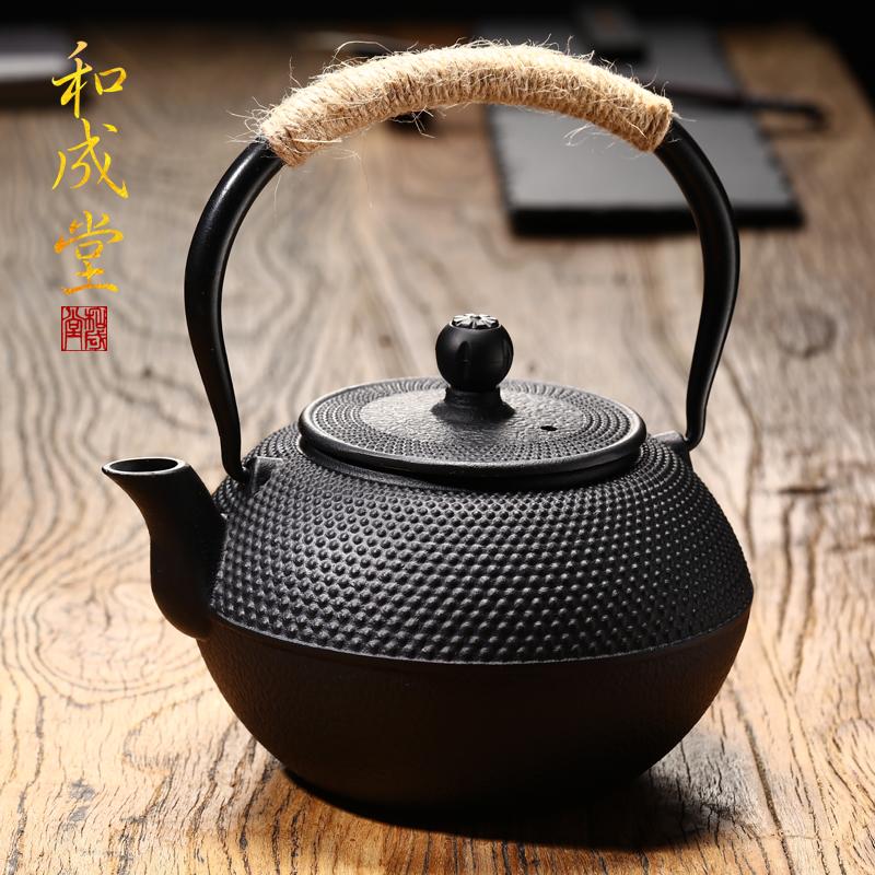 和成堂 鑄鐵壺無塗層 鐵茶壺日本南部生鐵壺茶具燒水煮茶老鐵壺