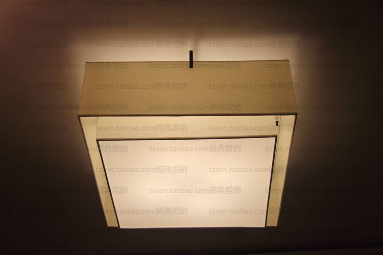 客厅餐厅卧室书房酒店别墅灯饰具 led 新中式吸顶灯简约现代四方形