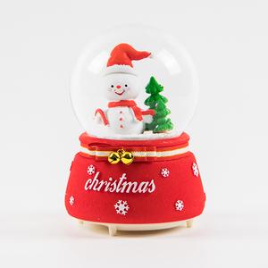 大号自动飘雪水晶球音乐盒八音盒送男女朋友闺蜜圣诞节儿童小礼物