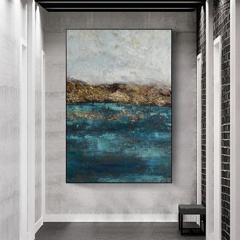純手繪油畫客廳簡約現代北歐風格裝飾畫抽象簡約壁畫玄關掛畫大幅