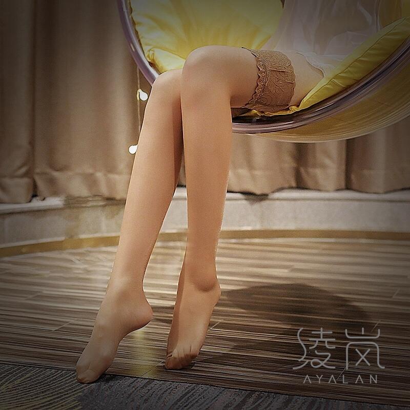 绫岚2020新款女款5D超薄性感蕾丝花边防滑硅胶丝滑长筒袜