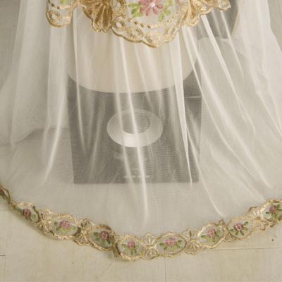 破壁机豆浆机防尘罩盖布蕾丝多用巾厨房电器茶杯台灯布定制包邮