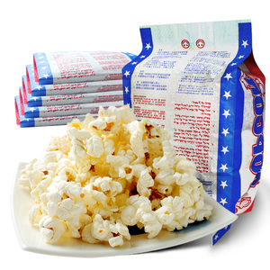 米乐谷微波炉爆米花网红小吃袋装专用玉米粒奶油膨化零食整箱批发