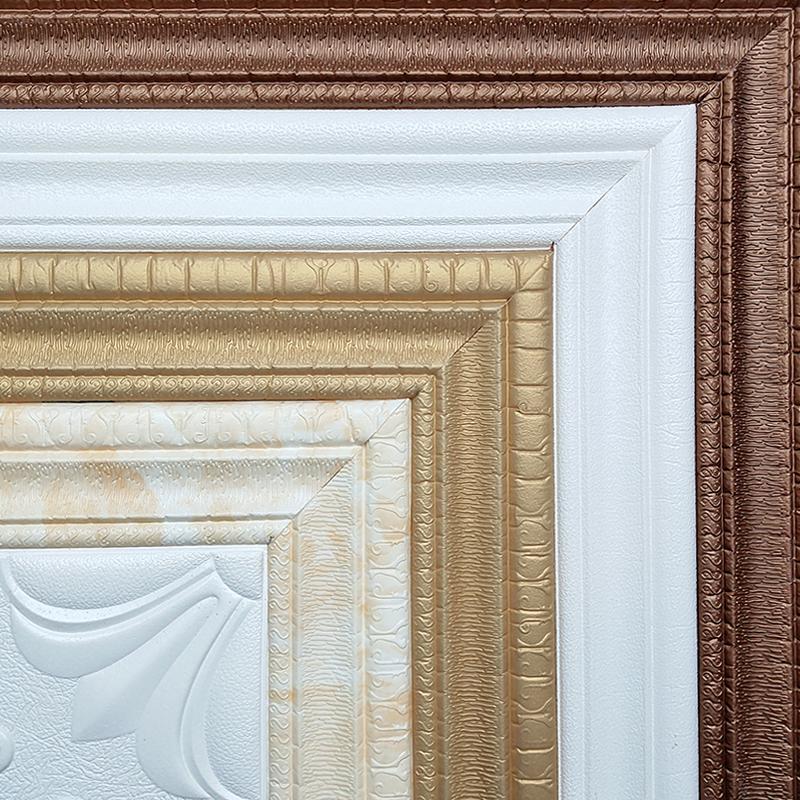 腰线踢脚线电视背景墙边框装饰条天花板线条墙纸自贴泡沫软包贴纸