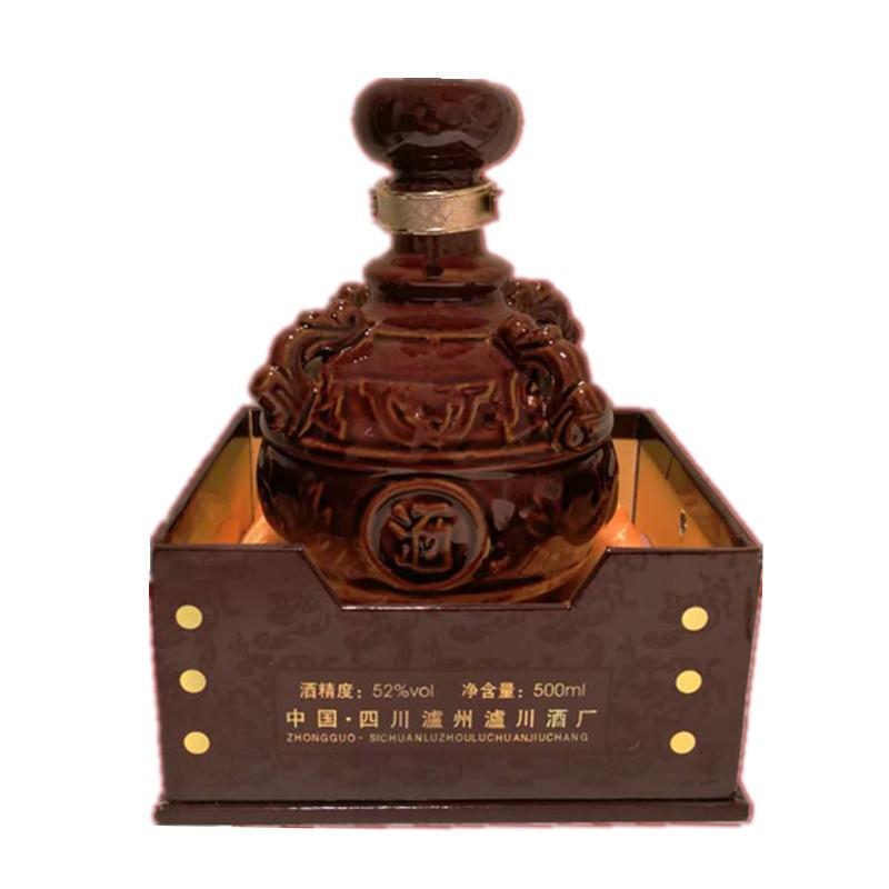 500ML 单瓶价 白酒泸酒窖藏酒手工礼盒白酒送礼白酒浓香型白酒 度 52