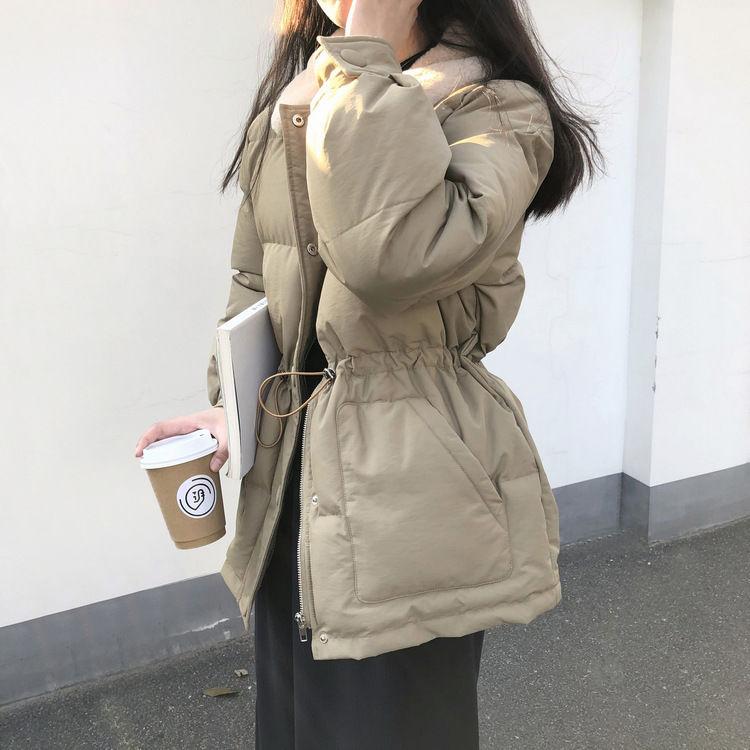 冬季加厚韩版短款洋气收腰修身外套