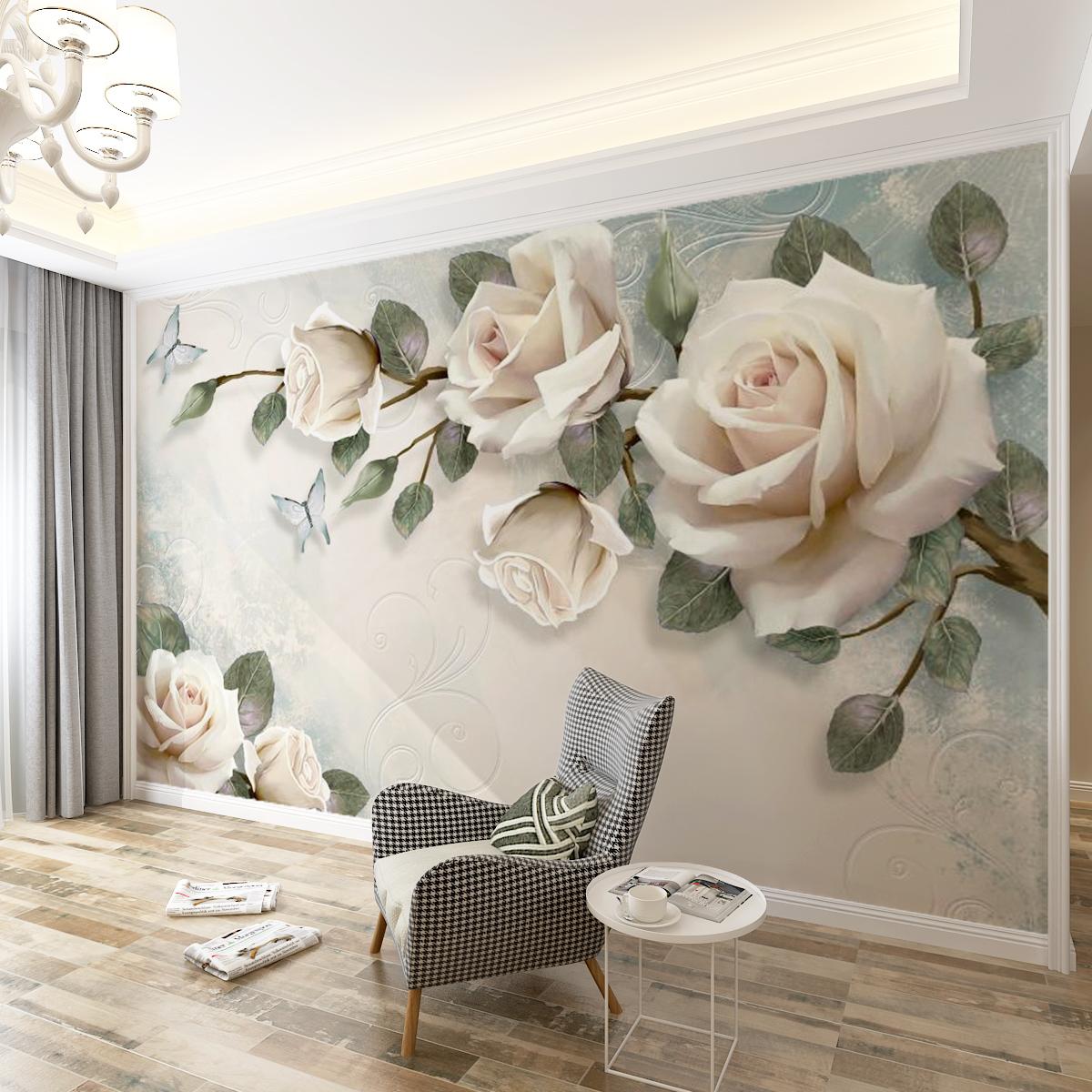 大气立体壁纸影视墙布