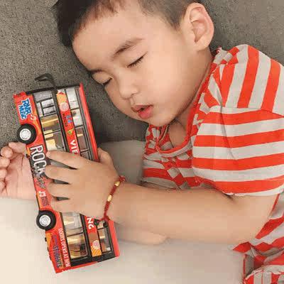 大号双层公交车玩具开门公共汽车模型儿童大巴男孩合金巴士玩具车 - 图3