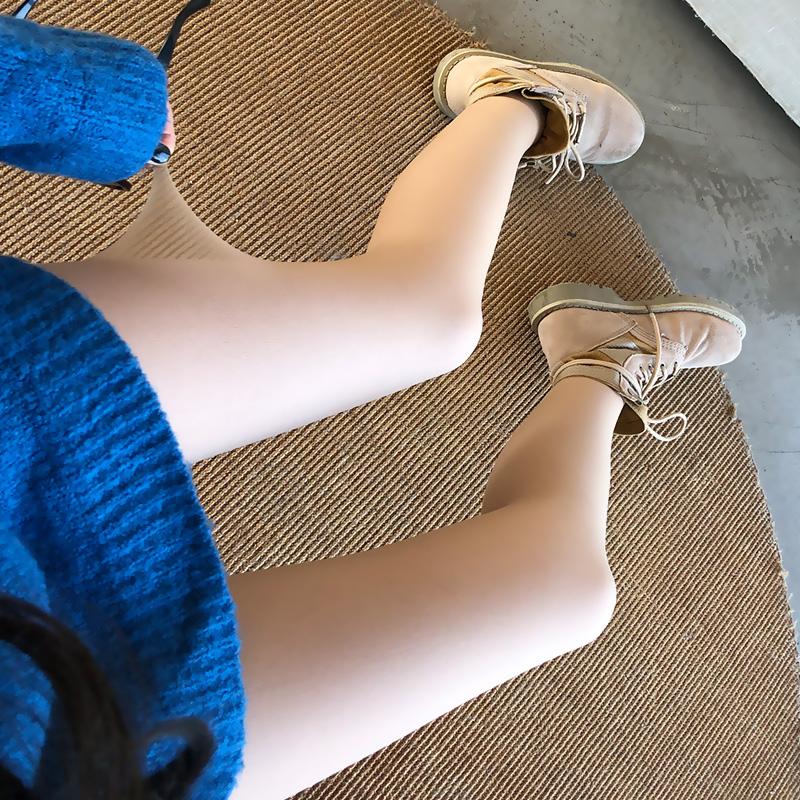 西小妖光腿神器春秋冬季薄款裸感超自然肉色打底裤丝袜女加绒加厚