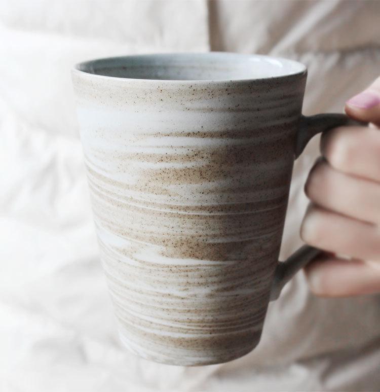 九土手工馬克杯復古陶瓷杯子個性咖啡杯創意定製情侶禮物茶杯水杯