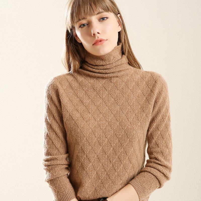 【年末清仓】超洋气~~秋冬加厚毛衣堆堆领毛衫,超柔软不扎身-给呗网