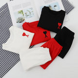Boys' autumn clothes and autumn trousers 2020 spring new style girl's home service suit children's embroidered pajamas