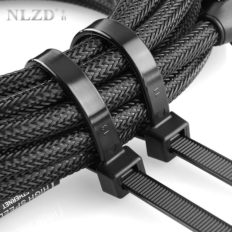 塑料自鎖式扎帶扎帶卡扣強力束線捆帶 9mm 系列實寬 10 牛利尼龍扎帶