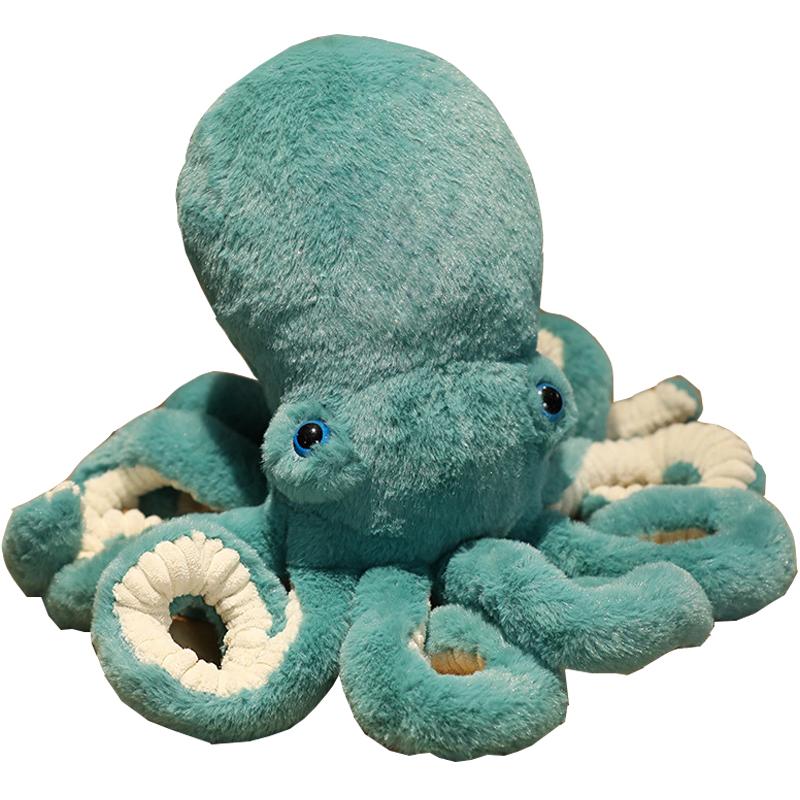 章鱼公仔毛绒玩具八爪鱼玩偶布娃娃粉色可爱女孩床上睡觉大号抱枕
