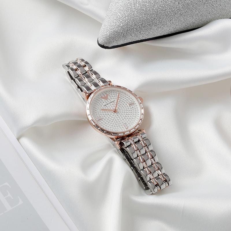 2020经典Armani阿玛尼佟丽娅同款满天星手表镶钻石英女表 AR11293
