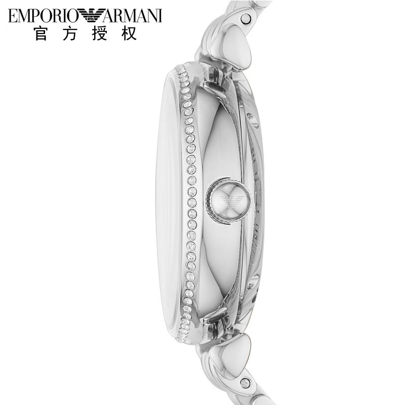 Armani阿玛尼手表女机械女表自动机械表镶钻钢带机械女表AR60022
