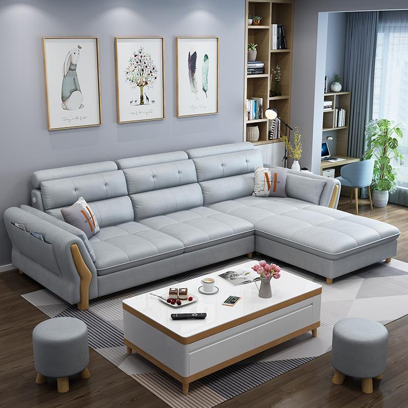 技布可拆洗客厅布沙发