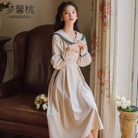 2019秋冬装新款气质复古egg裙法式初恋很仙显瘦收腰连衣裙女长裙